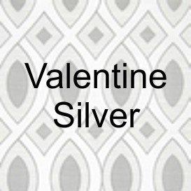 Valentine Silver Fabric