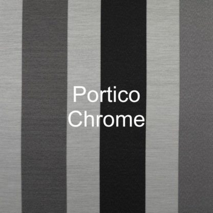 Portico Chrome Stripe Fabric