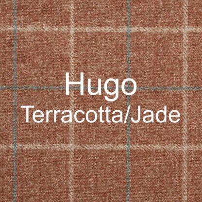 Hugo Terracotta/Jade Fabric