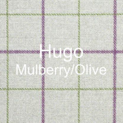 Hugo Mulberry/Olive Fabric