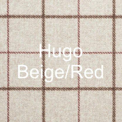 Hugo Beige/Red Fabric