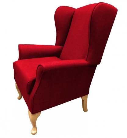 Empress Wingback Chair Linetta Red Side View