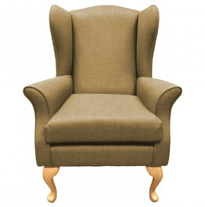 Empress Wingback Chair Linetta Sand Front View
