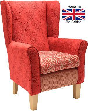 York Multi Red Orthopedic High Back Chair
