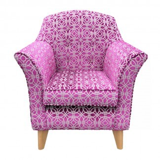 Kensington High Seat Chair Amara Magenta Front View