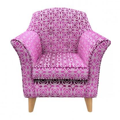 Kensington High Seat Chair Amara Magenta Front View