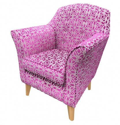Kensington High Seat Chair Amara Magenta left View