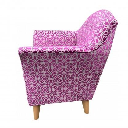 Kensington High Seat Chair Amara Magenta side View