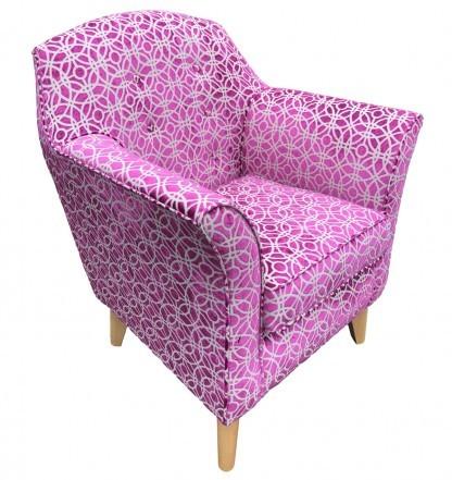 Kensington High Seat Chair Amara Magenta Right View