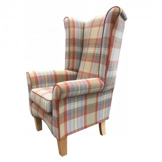 Pisa Cairngorm Auburn High Back Chair Side View