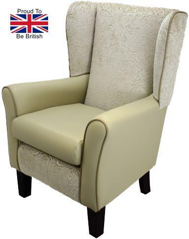 York Cream Green Orthopedic High Back Chair