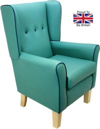 Button Back York West End Orthopedic High Back Winged Armchair