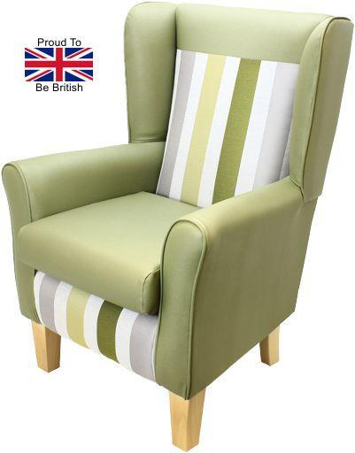 York Portico Orthopedic High Back Chair-green