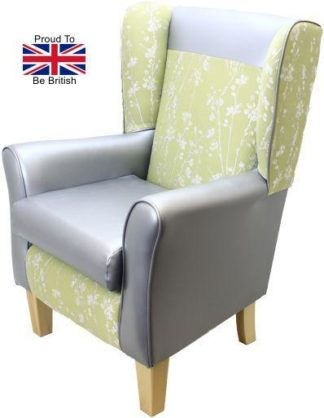 York Meadow Green Orthopedic High Back Chair