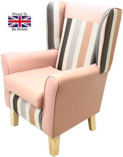 York Portico Orthopedic High Back Chair - Pink