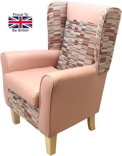 York Parquet Orthopedic High Back Chair