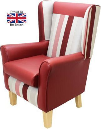 York Portico Orthopedic High Back Chair - Red