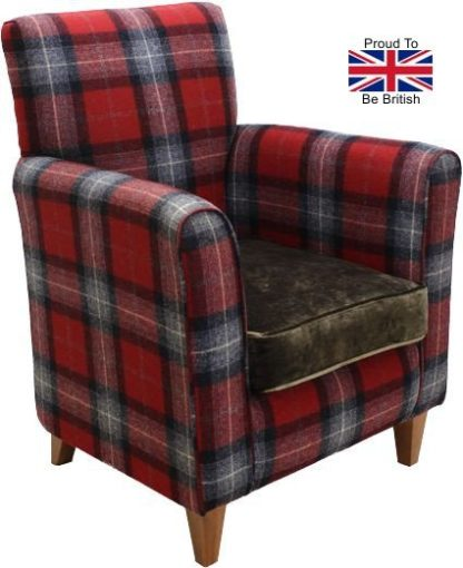 Guiseley High Seat Chair - Red Check