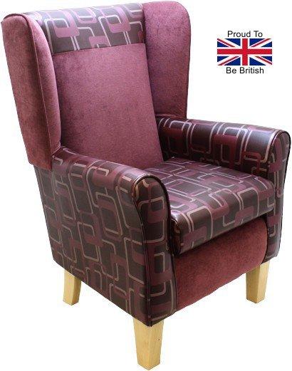 York Retro Purple Orthopedic High Back Chair