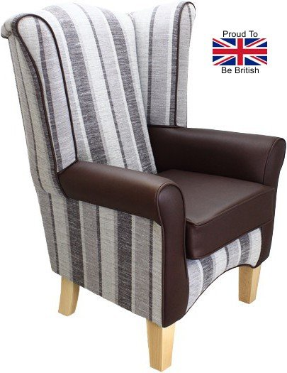 Pisa Portico with Brown Faux Leather Orthopedic High Back Chair