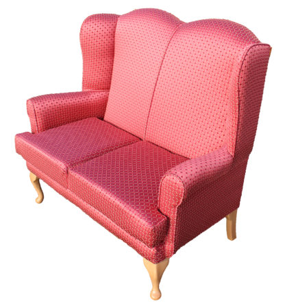 Queen Anne Orpheus Wine Two Seater Settee