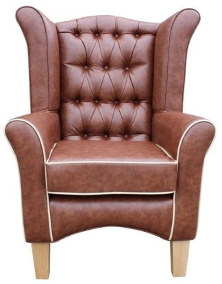 Pisa Faux Leather Orthopedic Chair With Button Back Front View