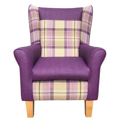 York chair front view thistle and heather