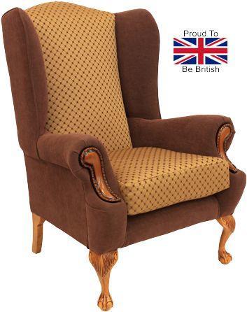 King George Omega Orthopedic Wingback Chair