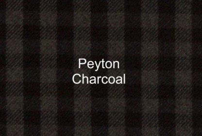 Peyton Charcoal Check Fabric