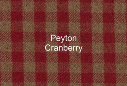 Peyton Cranberry Check Fabric