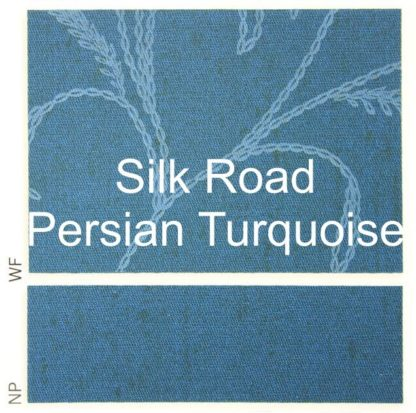 Silk Road Persian Turquoise Fabric
