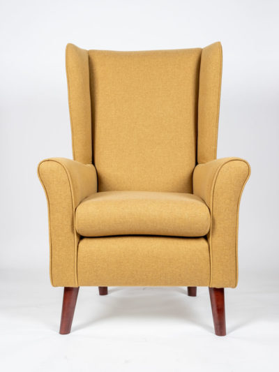 The Howard Tall back Chair In Flynn Mimosa