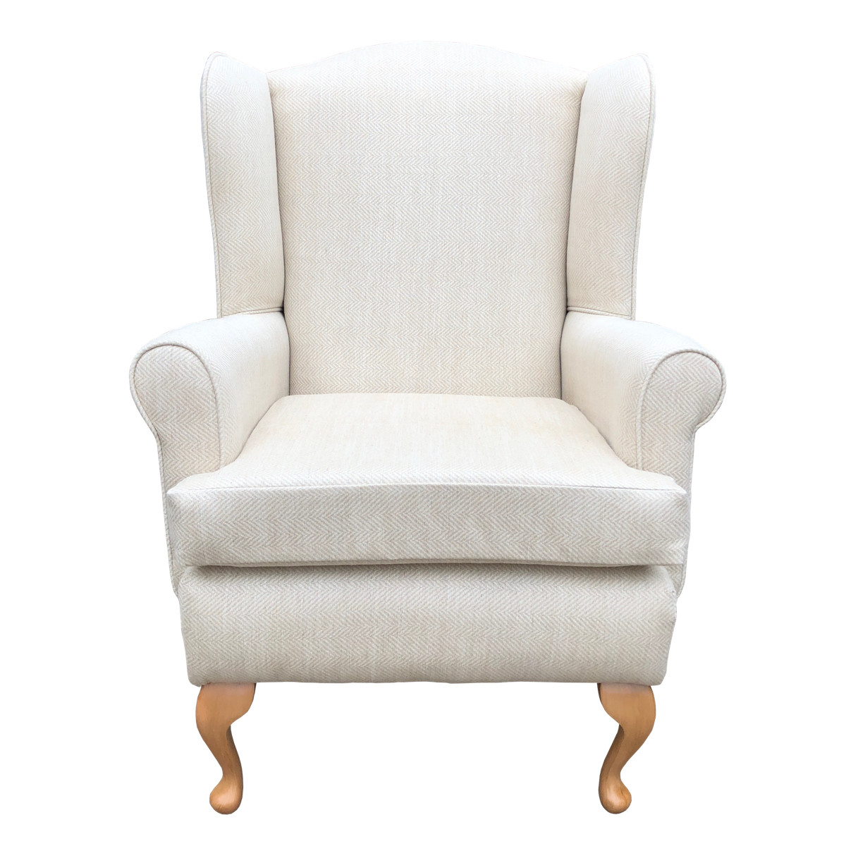 Queen Anne Extra Wide Bariatric Wingback Chair