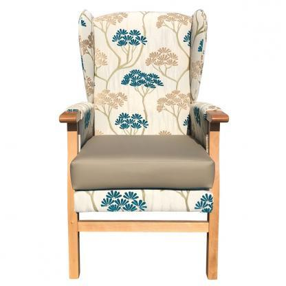 newark hospital chair serenity teal front view