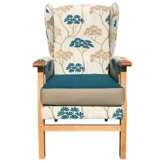 newark hospital chair teal top front view