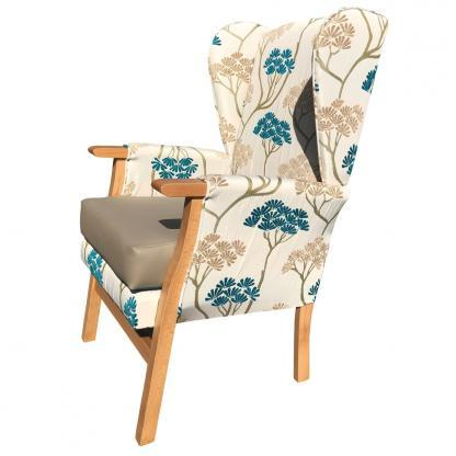 newark hospital chair teal top side view