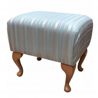 deluxe footstool redial azure fabric