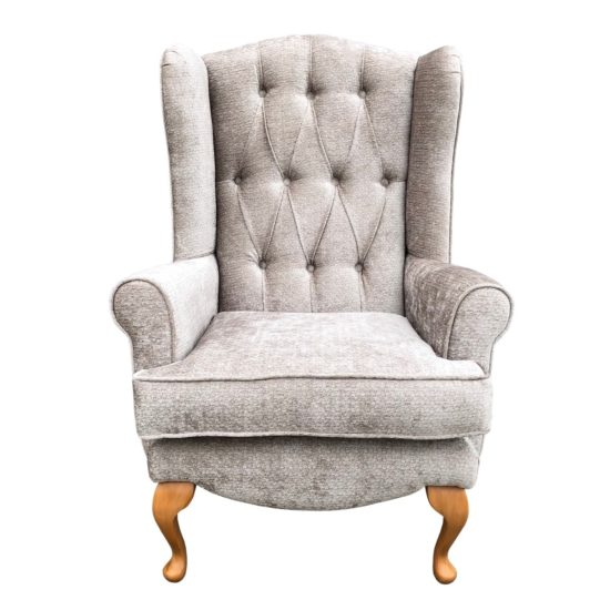 deluxe queen anne chair front view