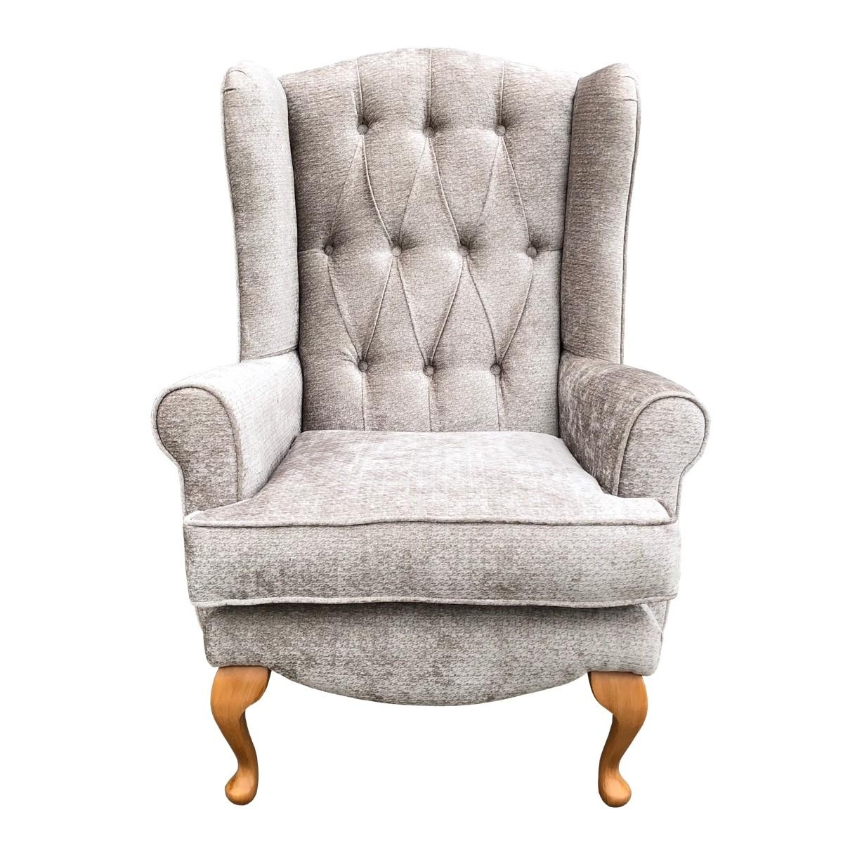Deluxe Queen Anne Juno Caramel Wingback Chair