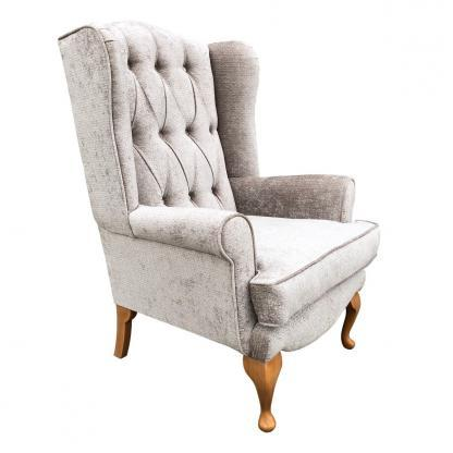 deluxe queen anne chair side view