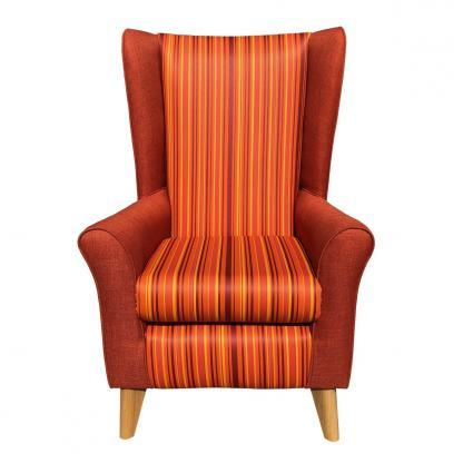 extra high back chair monza orange front view