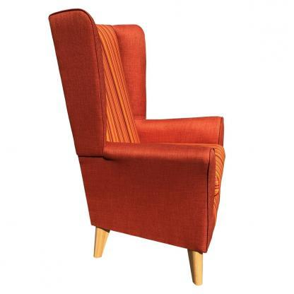 extra high back chair monza orange side view