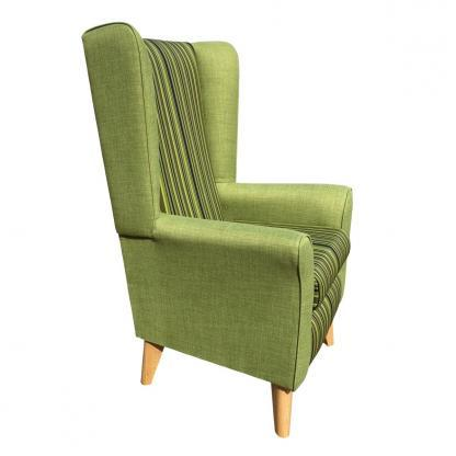 extra high back chair monza green side view