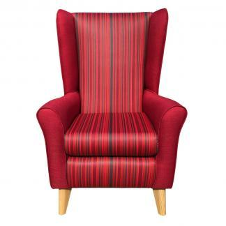 extra high back chair monza red front view