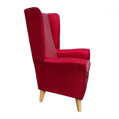 extra high back chair monza red side view