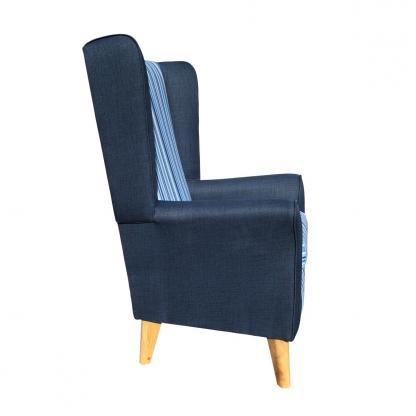extra high back chair monza santorini side view