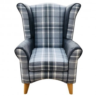 Pisa wingback chair front view