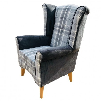 Pisa wingback chair side view
