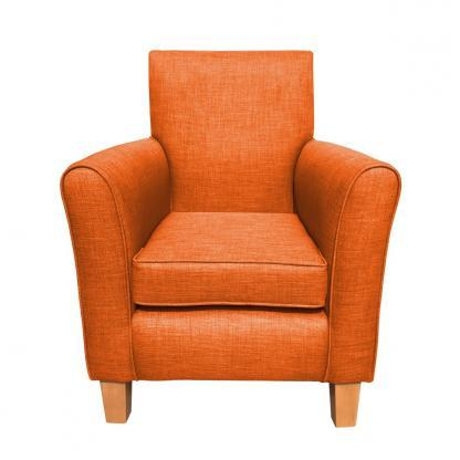 guiseley chair burnt orange front view