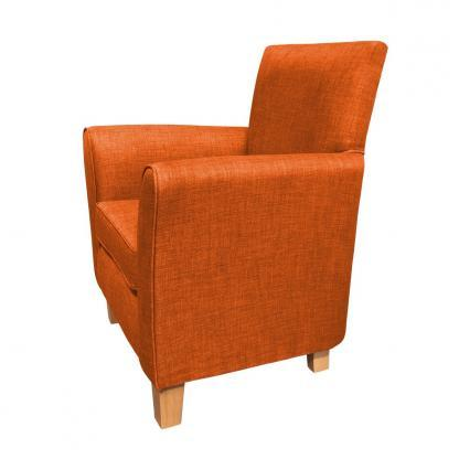 guiseley chair burnt orange side view